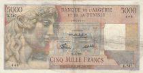 Algeria 5000 Francs Apollo - Triomphal arch of Trajan - 16-04-1951 -  Serial K.787