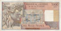 Algeria 5000 Francs Apollo - Triomphal arch of Trajan - 17-02-1950 -  Serial T.462