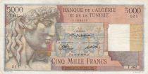 Algeria 5000 Francs Apollo - Triomphal arch of Trajan - 17-02-1950 -  Serial T.462