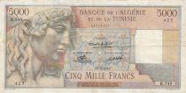 Algeria 5000 Francs Apollo - Triomphal arch of Trajan - 17-04-1950 -  Serial R.549