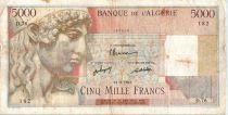 Algeria 5000 Francs Apollo - Triomphal arch of Trajan - 1947 - D.76 - 1947