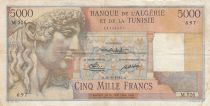 Algeria 5000 Francs Apollo - Triomphal arch of Trajan - 21-03-1950 -  Serial M.526