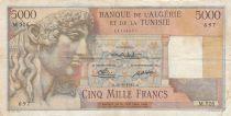 Algeria 5000 Francs Apollo - Triomphal arch of Trajan - 21-03-1950 -  Serial M.526