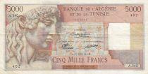 Algeria 5000 Francs Apollo - Triomphal arch of Trajan - 21-12-1949 -  Serial A.340