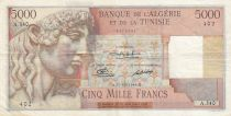 Algeria 5000 Francs Apollo - Triomphal arch of Trajan - 21-12-1949 -  Serial A.340