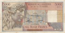 Algeria 5000 Francs Apollo - Triomphal arch of Trajan - 23-01-1950 -  Serial B.404