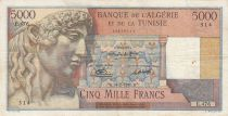 Algeria 5000 Francs Apollo - Triomphal arch of Trajan - 24-02-1950 -  Serial E.476