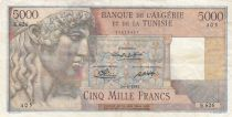Algeria 5000 Francs Apollo - Triomphal arch of Trajan - 24-08-1950 -  Serial E.626