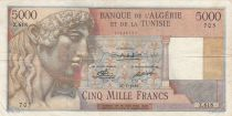 Algeria 5000 Francs Apollo - Triomphal arch of Trajan - 27-07-1950 -  Serial Z.618