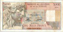 Algeria 5000 Francs Apollo - Triomphal arch of Trajan - C.251  - 1949