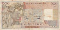 Algeria 5000 Francs Apollo - Triomphal arch of Trajan - D.76 - 24-02-1947