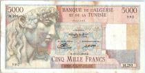 Algeria 5000 Francs Apollo - Triomphal arch of Trajan - M.293  - 1949