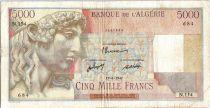 Algeria 5000 Francs Apollo - Triomphal arch of Trajan - N.154  - 1947