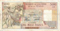 Algeria 5000 Francs Apollo - Triomphal arch of Trajan - O.195  - 1949