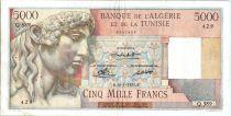Algeria 5000 Francs Apollo - Triomphal arch of Trajan - Q.389 - 1950