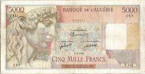 Algeria 5000 Francs Apollo - Triomphal arch of Trajan - T.142  - 1947