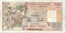 Algeria 5000 Francs Apollo - Triomphal arch of Trajan - T.235  - 1949