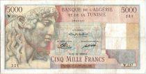 Algeria 5000 Francs Apollo - Triomphal arch of Trajan - W.237  - 1949