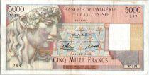 Algeria 5000 Francs Apollo - Triomphal arch of Trajan - W.331  - 1949