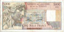 Algeria 5000 Francs Apollo - Triomphal arch of Trajan - X.291  - 1949