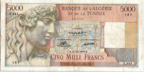 Algeria 5000 Francs Apollo - Triomphal arch of Trajan - Z.343 - 1949