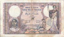 Algeria 5000 Francs Woman w/torche & shield - 1942