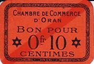 Algérie 10 Centimes Oran