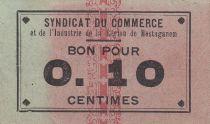 Algérie 10 Centimes Syndicat du Commerce et de l´Industrie  de la Région de Mostaganem