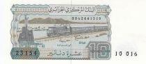 Algérie 10 Dinars  - Train, village -1983