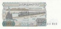 Algérie 10 Dinars 02-12-1983 - Train, village de montagne