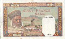 Algérie 100 Francs  Notable Algerien - 1945