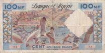 Algérie 100 NF  Mouettes, port - 31-07-1959 - Série Y.3 - P.TB