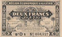 Algérie 2 Francs - 1944 - Série D 1 - Première émission - Figuier