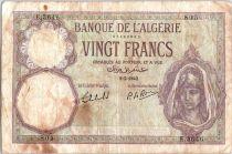 Algérie 20 Francs Jeune Femme - 1942
