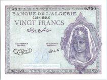 Algérie 20 Francs Jeune Femme - 1944