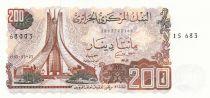 Algérie 200 Dinars 02-01-1983 - Monument des martyrs, vue de Constantine