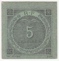 Algérie 5 Centimes -  Chambre de Commerce - Bougie Sétif - 1916