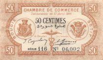 Algérie 50 Centimes - Chambre de Commerce de Bougie-Sétif 1915 - SPL