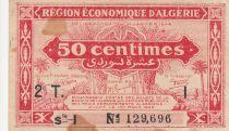 Algérie 50 Centimes - Région économique - 31-1-1944 Série I