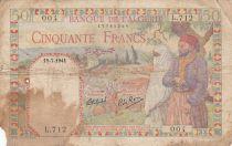 Algérie 50 Francs 19-07-1941 - Paysans, ville et ruines romaines