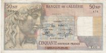 Algérie 50 NF 1959 -  Apollon - Arc de Triomphe de Trajan - Série T.153