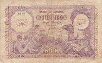 Algérie 500 Francs 1944 - Jeunes garçons, chamelier avec chameau, scène allégorique