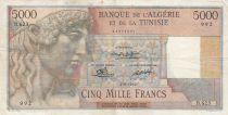 Algérie 5000 Francs Apollon - Arc de Triomphe de Trajan - 03-08-1950 -  Série B.623