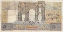 Algérie 5000 Francs Apollon - Arc de Triomphe de Trajan - 23-01-1950 -  Série B.404