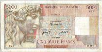 Algérie 5000 Francs Apollon - Arc de Triomphe de Trajan - D.160 - 1947