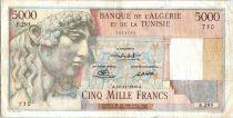 Algérie 5000 Francs Apollon - Arc de Triomphe de Trajan - E.295 - 1949