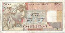 Algérie 5000 Francs Apollon - Arc de Triomphe de Trajan - F.179 - 1947