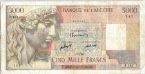 Algérie 5000 Francs Apollon - Arc de Triomphe de Trajan - P.162 - 1947