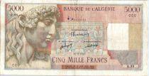 Algérie 5000 Francs Apollon - Arc de Triomphe de Trajan - R.98 - 1947