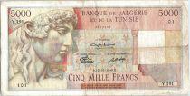 Algérie 5000 Francs Apollon - Arc de Triomphe de Trajan - Y.191 - 1949